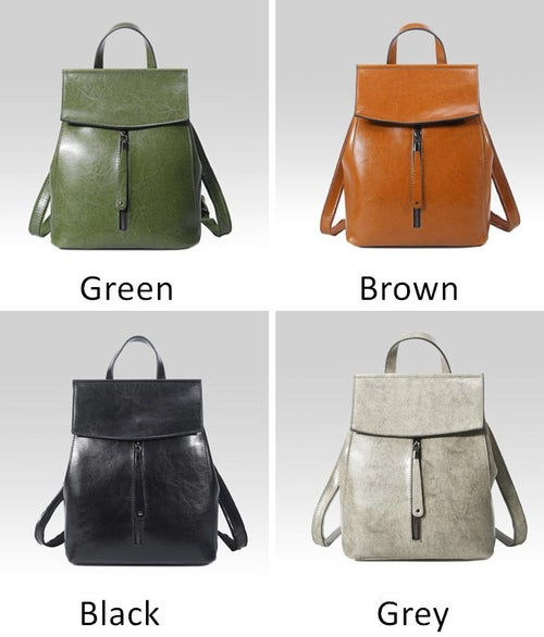 Image of Backpack Purse Lady Backpack Women Leather Backpack 9233