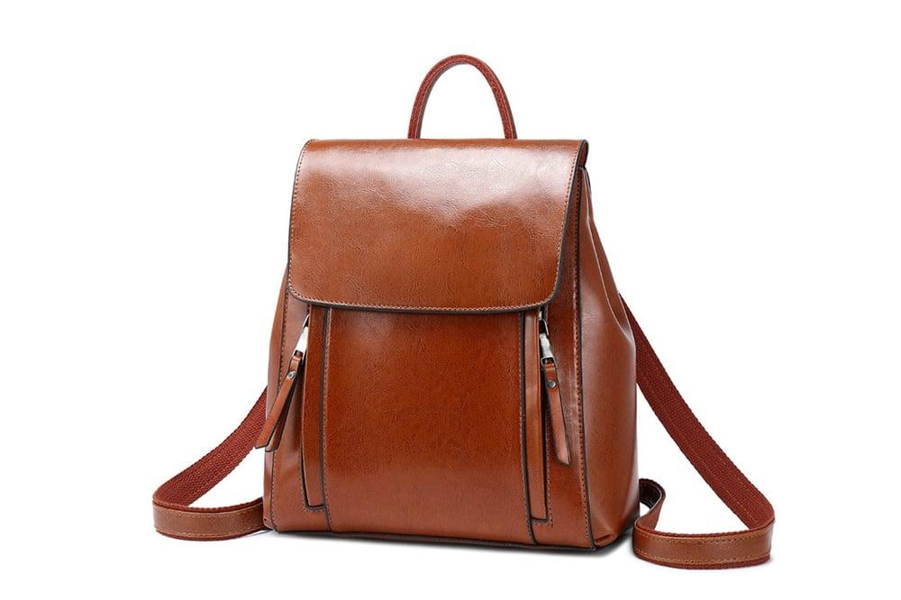 Image of Leather Backpack Purse Women Designer Backpacks SX586