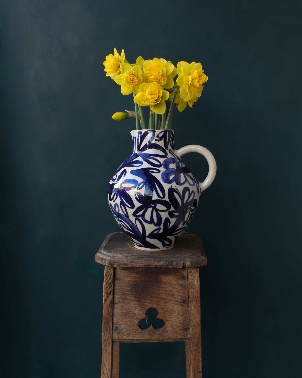 Image of Large Cobalt Harvest Jug
