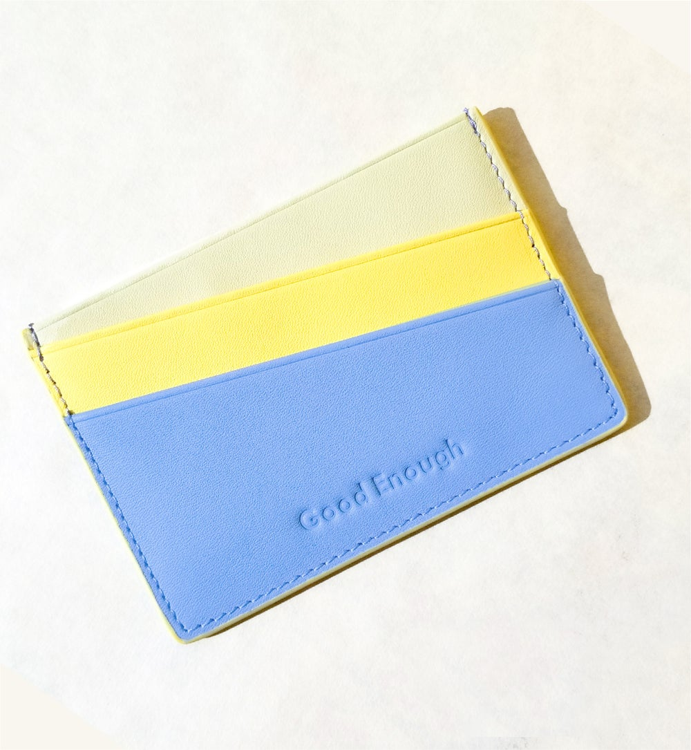 'Good Enough ' Multicolor card case -  Forget me not