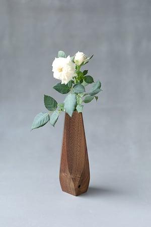 Image of Wavy walnut wood vase - ready to ship
