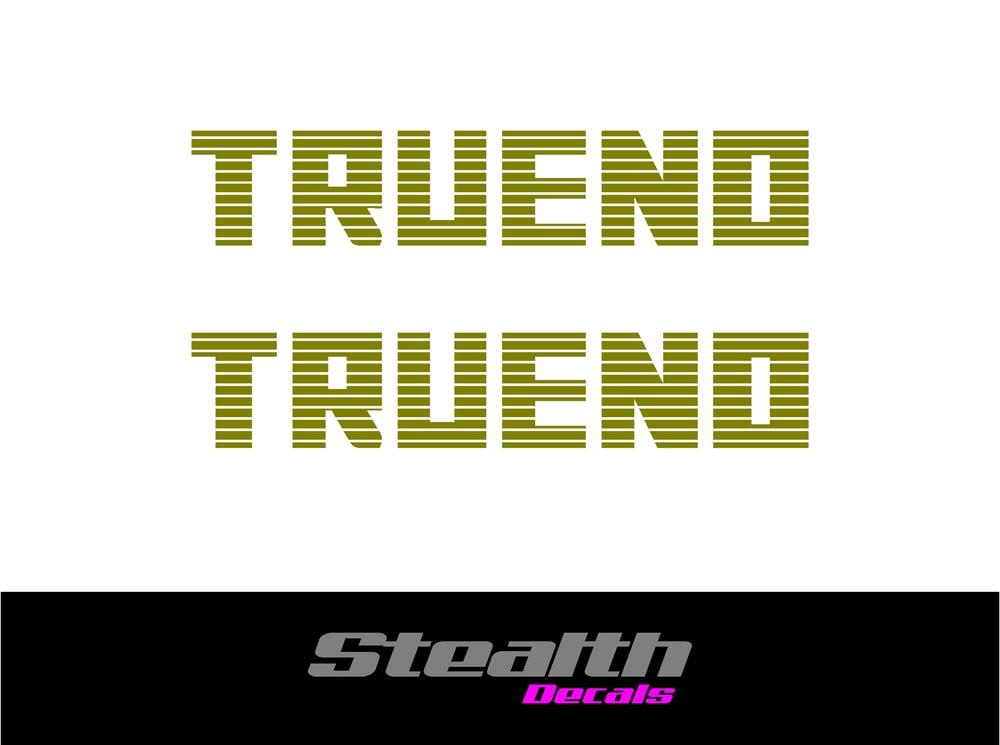 Image of AE86 TRUENO Wind Deflector decals x2
