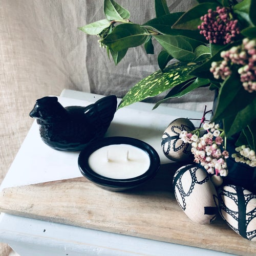 Image of Small Vintage Ceramic Hen Candle