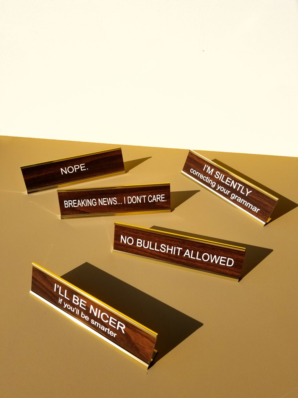Office Nameplate Set B