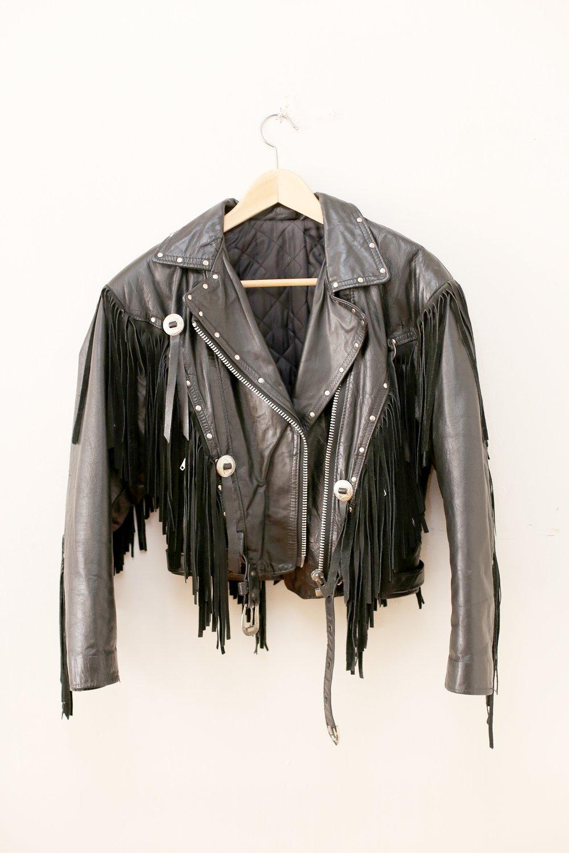 Vintage Studded Leather Eagle Jacket