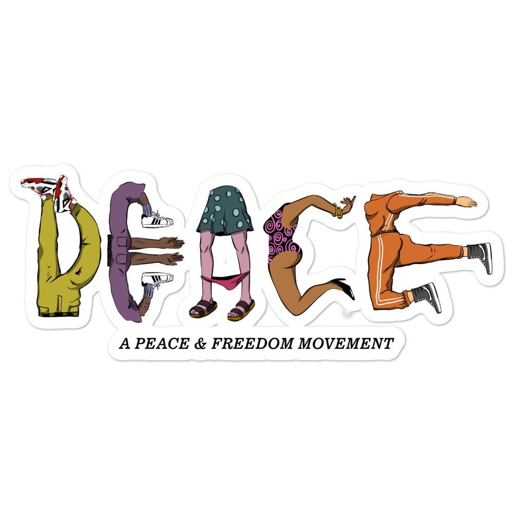 Image of A PEACE & FREEDOM 5.5 Sticker