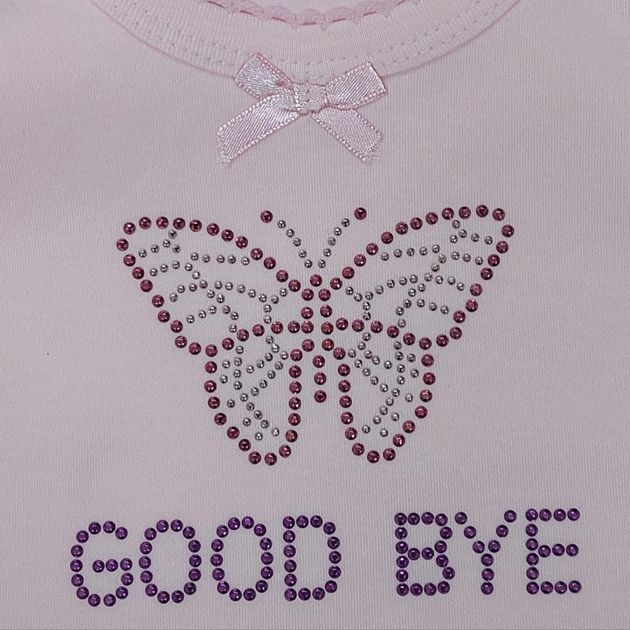 Image of Good Bye Butterfly Pink Tank Top