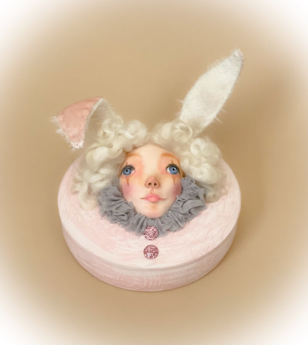 Image of Art doll bunny box
