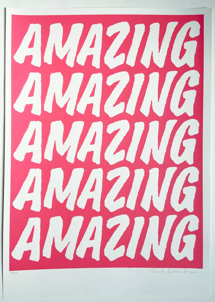 Image of AMAZING POSTER  - PINK by Charlie Evaristo-Boyce