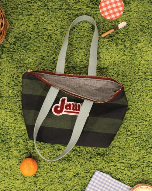 Image of PHILLIES JAWN Striped Short Tote