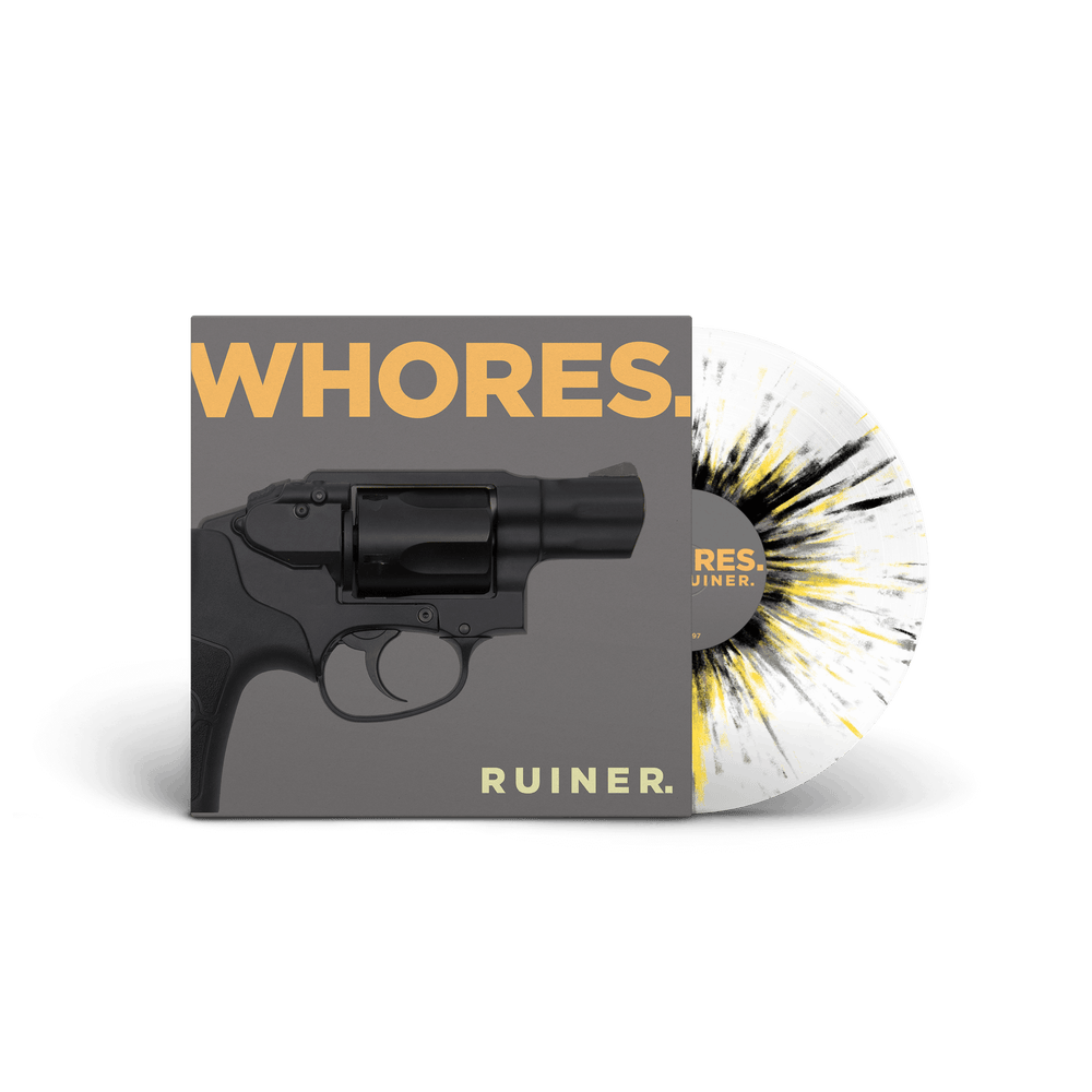 WHORES - Ruiner / VINYL LP (ultraclear with yellow & black & grey, ltd. 300)