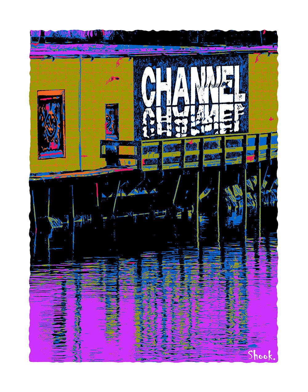 "The Channel Boston 2021 Colors Giclée Art Print - 11"" x 14"""