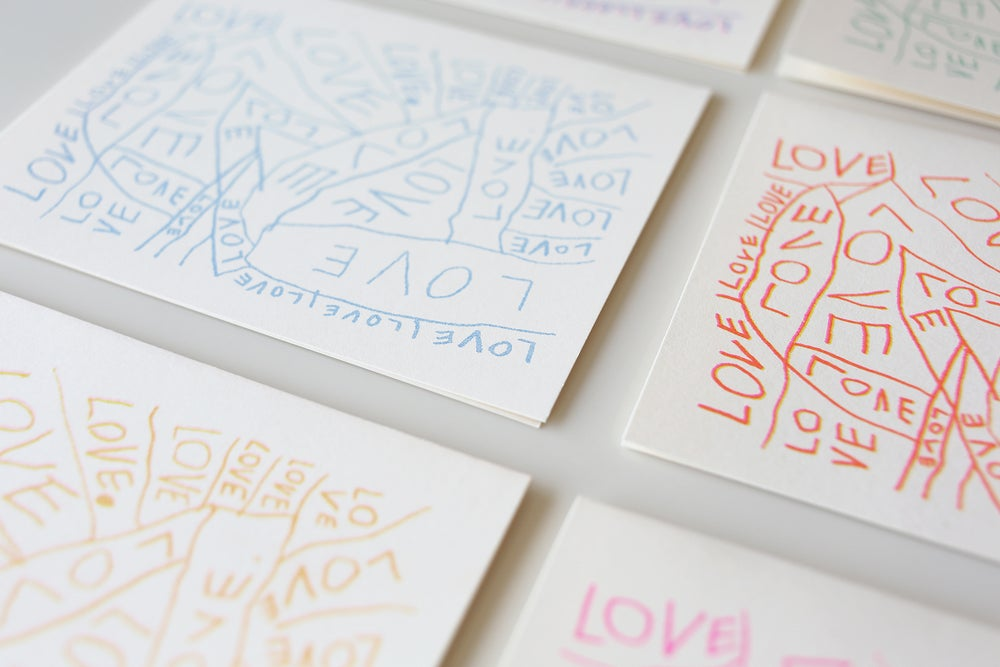 Image of Rainbow LOVE Cards <div>Set of 12</div>
