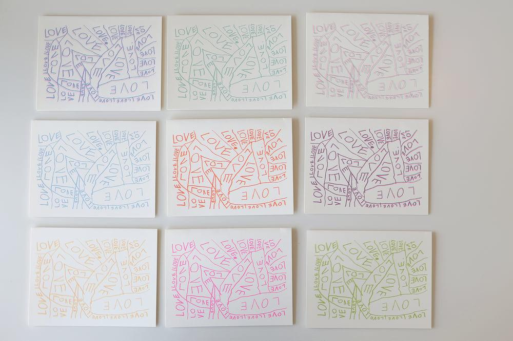 Image of Rainbow LOVE Cards <div>Set of 12</div>
