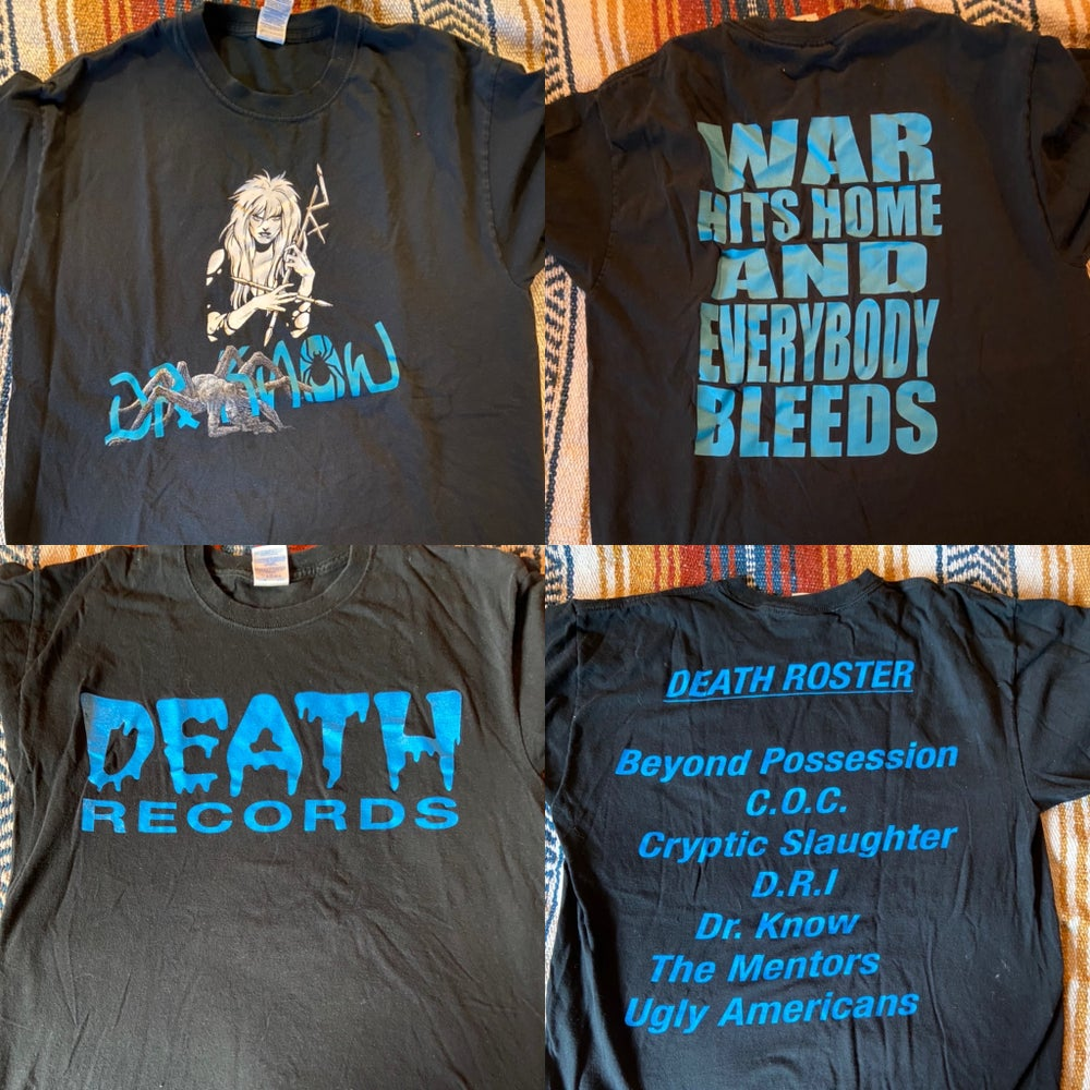 Image of DR KNOW, Death Records,Anvil,Final Conflict, Dropdead,Zeke,Master,Police Bastard,Wasted Youth