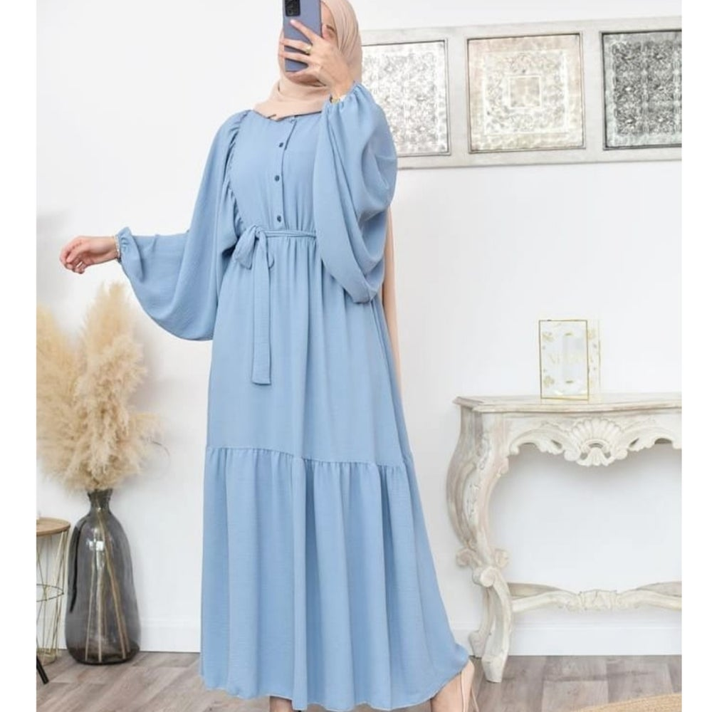 Image of Batwing Pastel Colours Maxi Dress