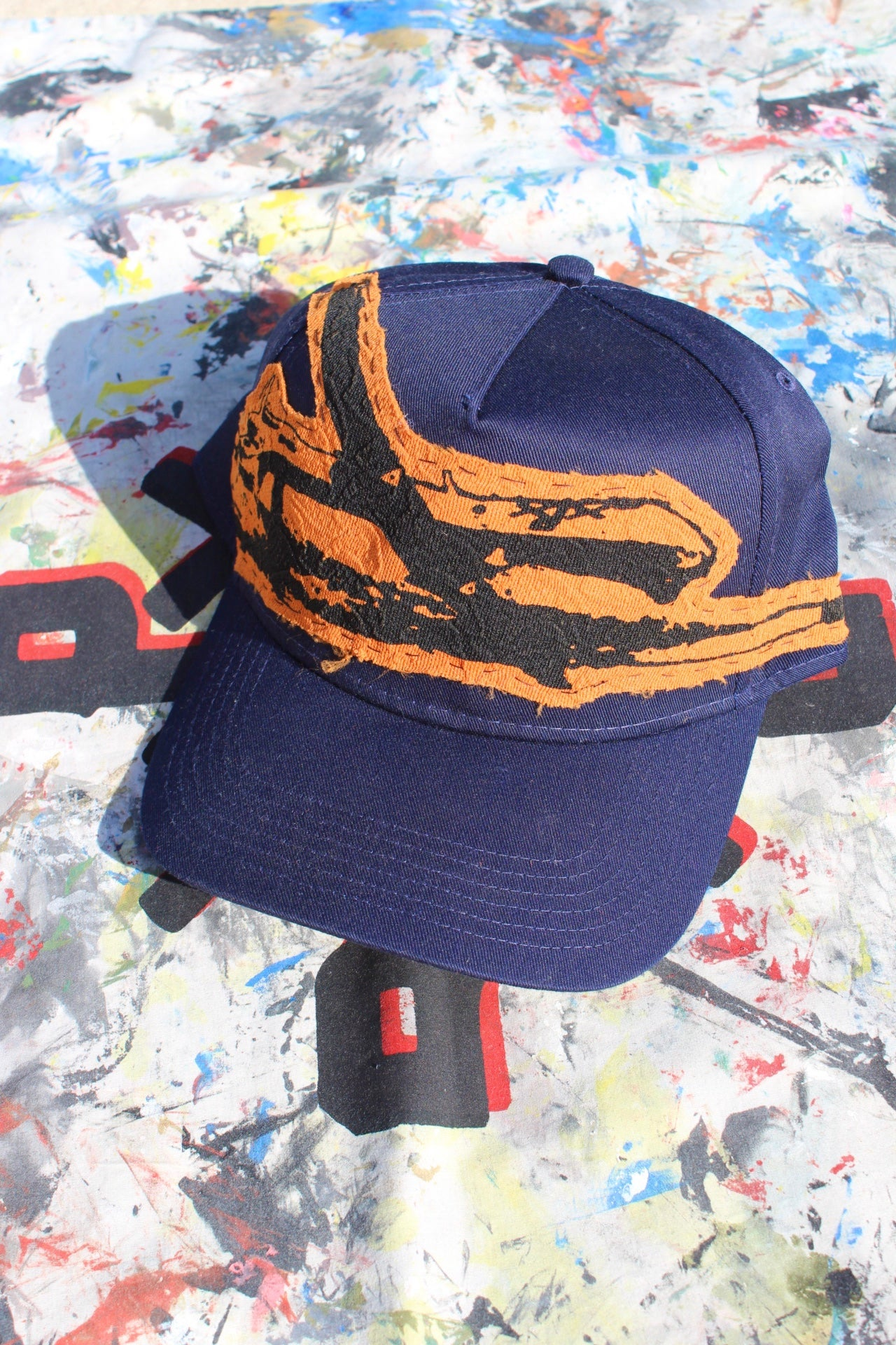 Image of from the sky baseball cap in navy blue