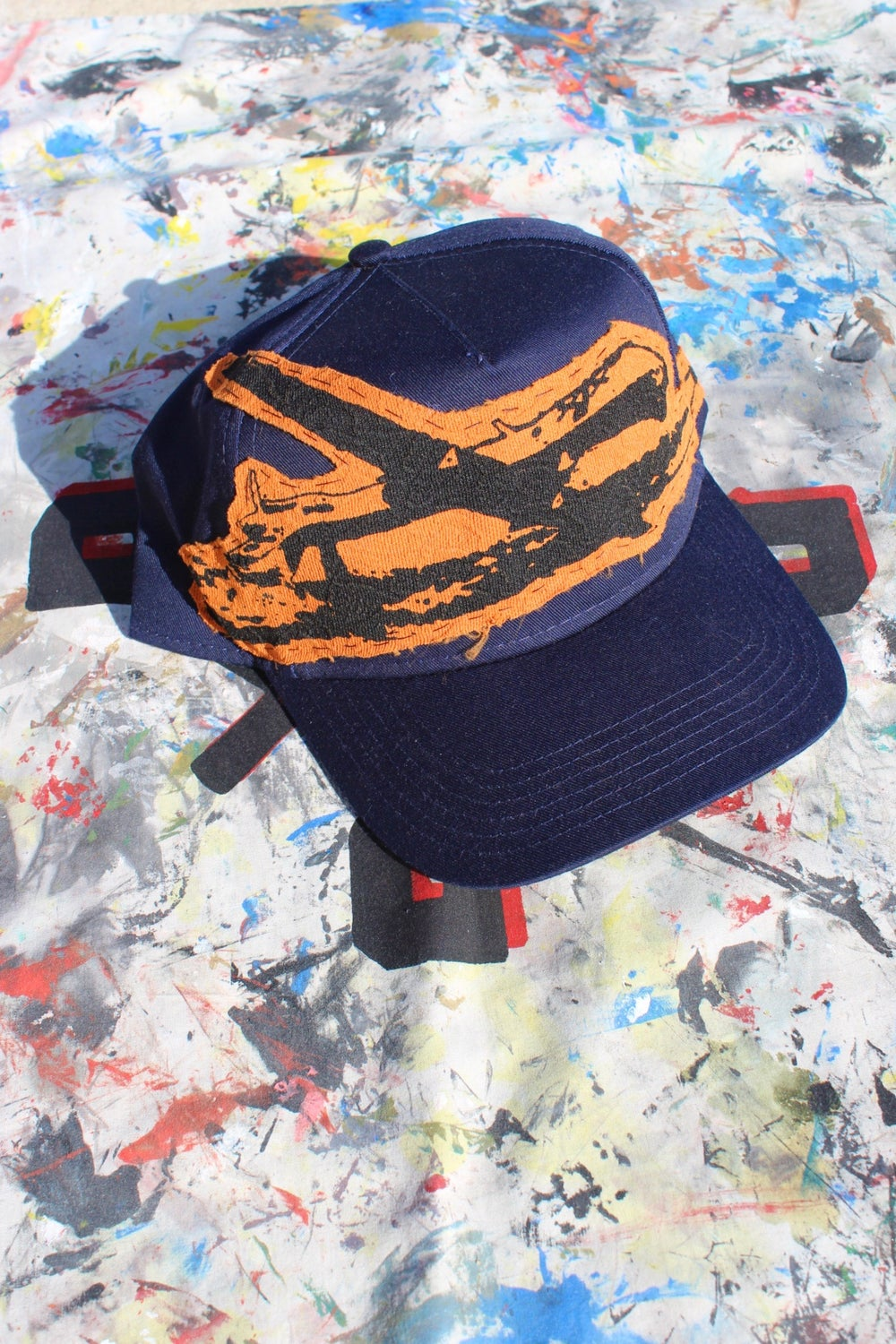 from the sky baseball cap in navy blue