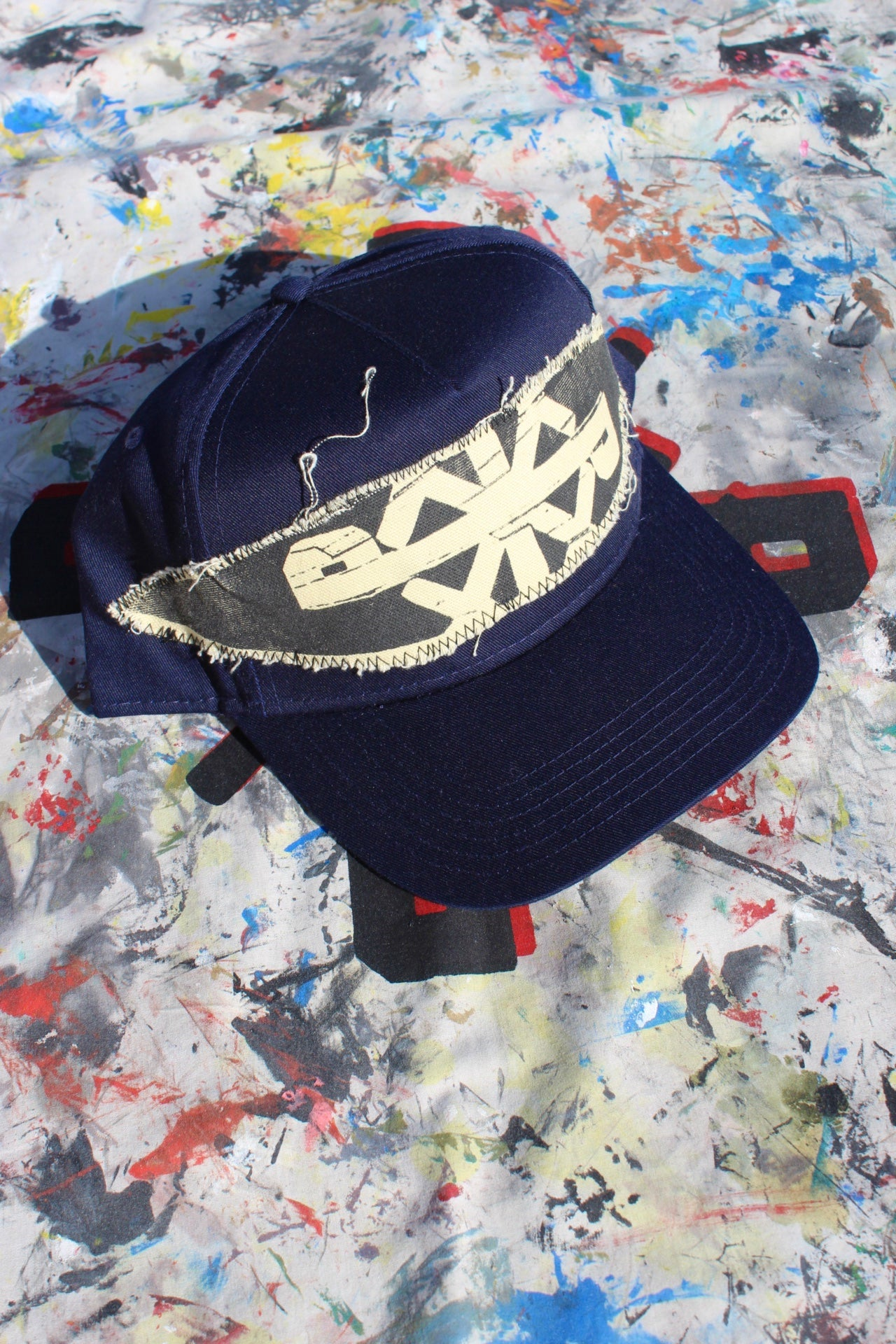 Image of see that baseball cap in navy blue