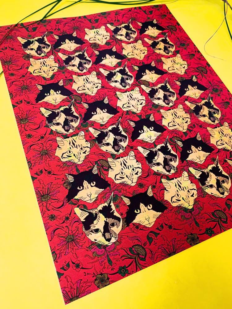Image of Catmouflage-11 x 14 print