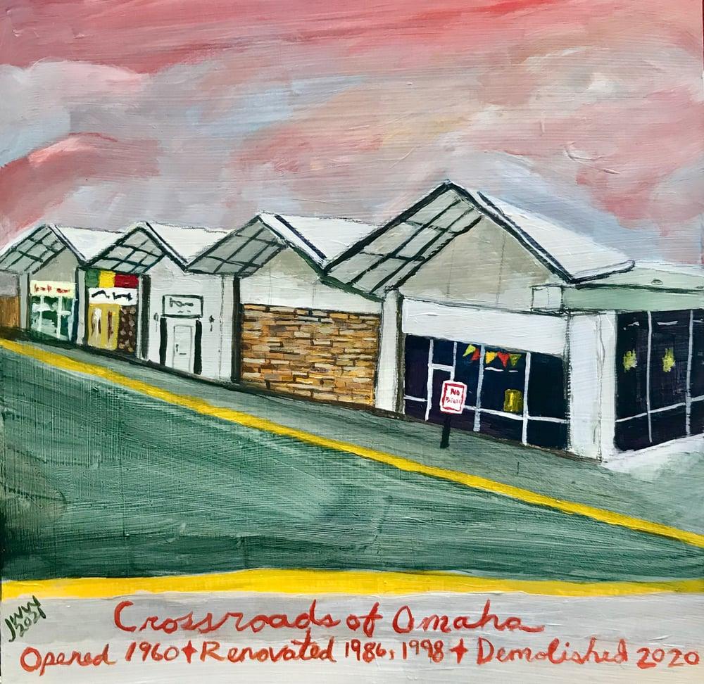 SMALL MALLS - Crossroads of Omaha - Original Painting