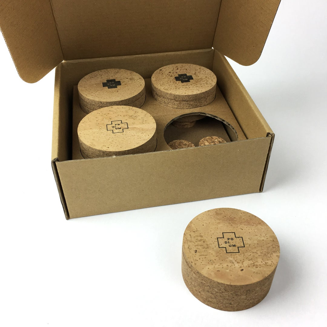 Image of PODIUM | Milan grain. Solid cork insulator feet for music equipment