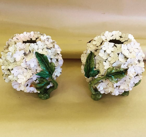 Image of Snowball Vases /pair