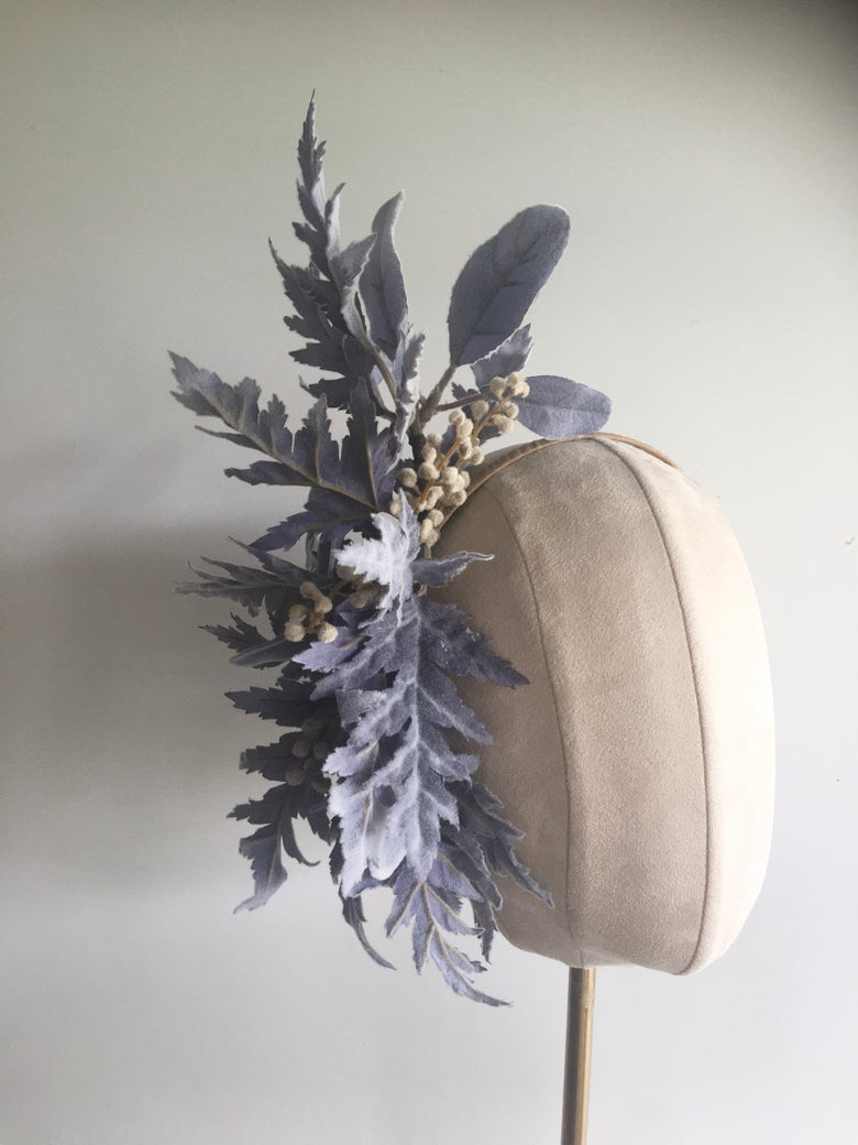 Image of Pale blue headpiece