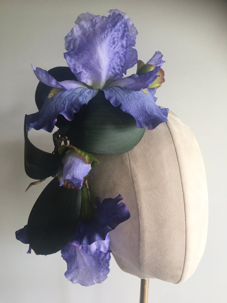 Image of Violet orchid headpiece