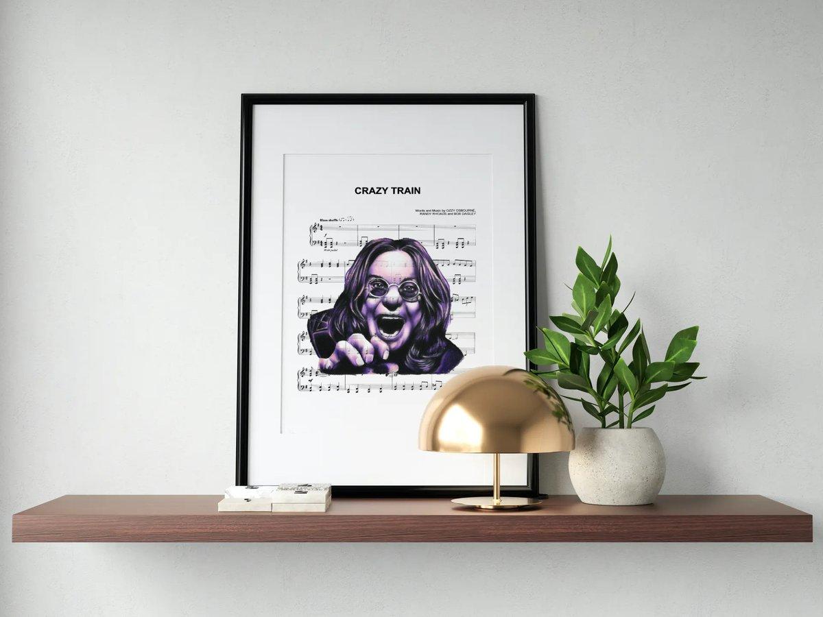 Ozzy Osbourne Portrait Print