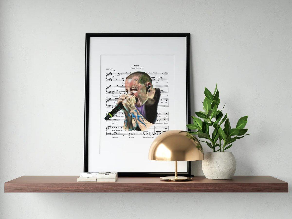 Chester Bennington Portrait Print