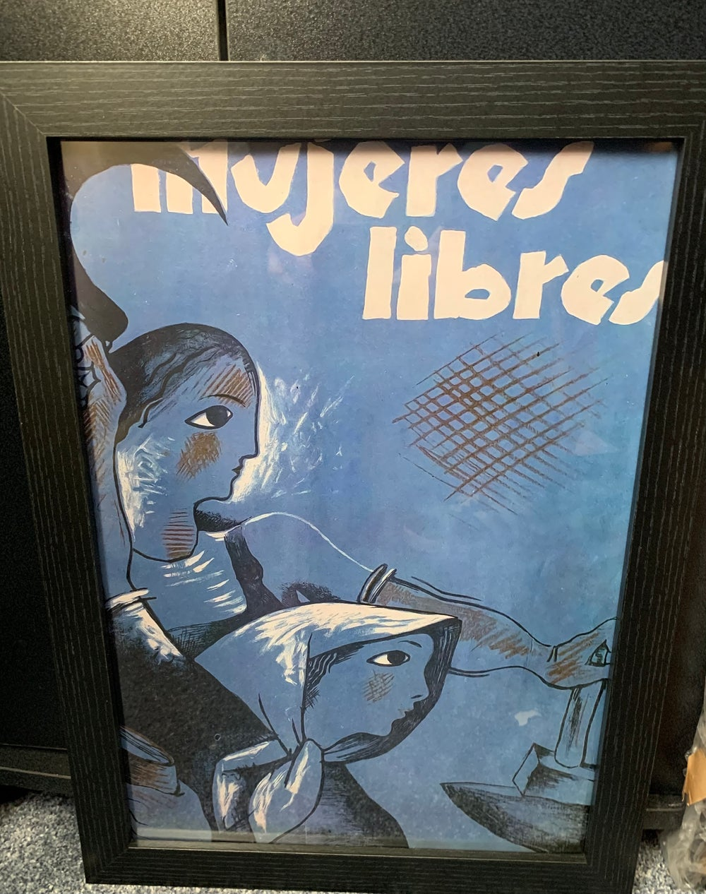 Mujeres Libres 1936 Spanish Civil War Anarchist Women's Poster