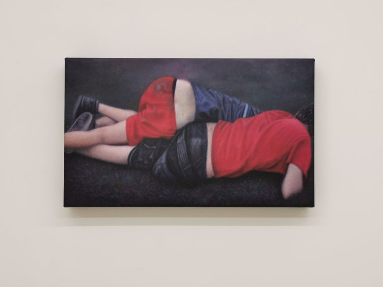"""Image of AUDREY NERVI """"Fly ass face on the ground poland"""" 2016"""