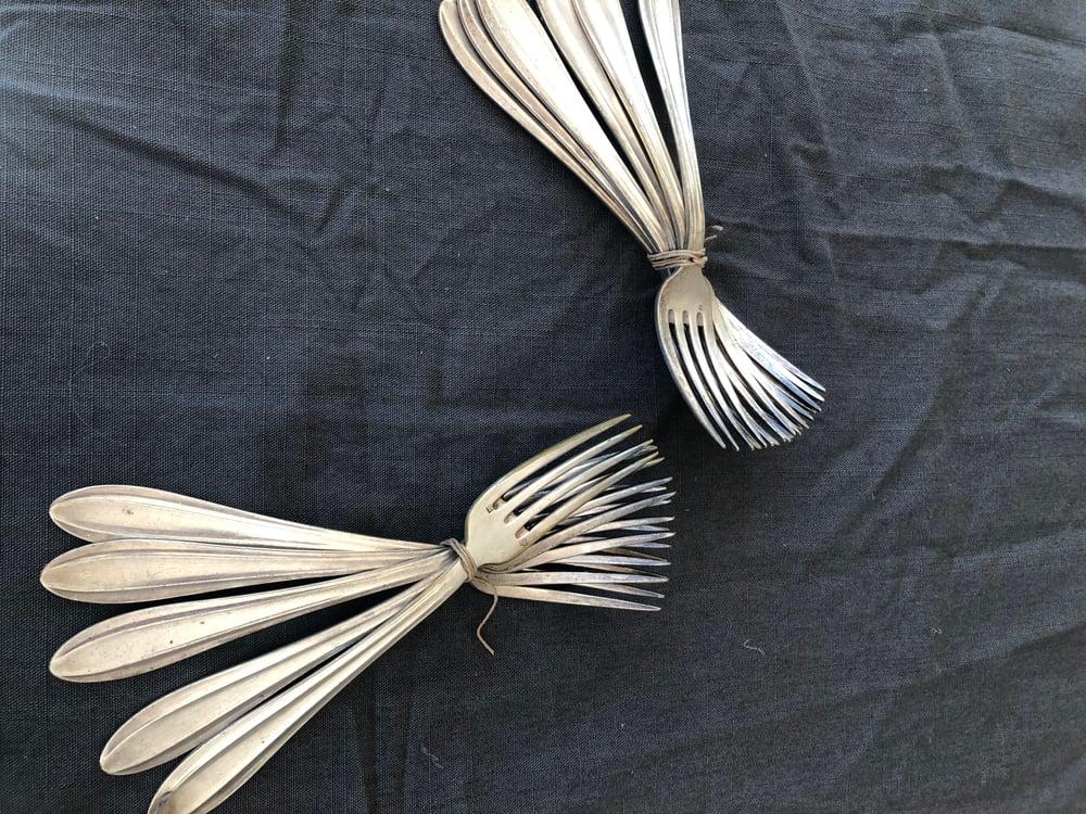 Image of Ensemble  11 fourchettes anciennes en argent