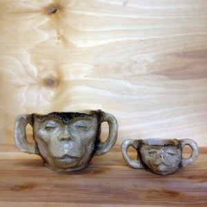 Image of Monkey head cup