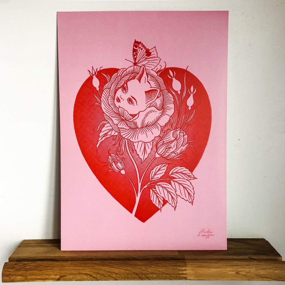 Rose and butterfly cutie print