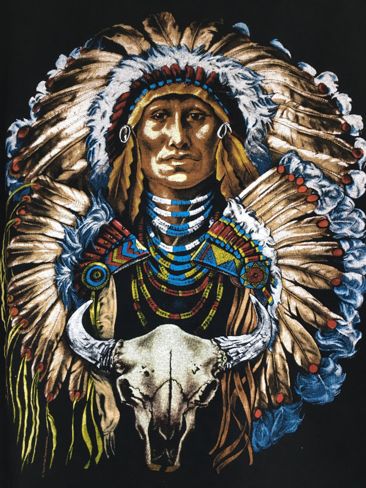 90's Native American Chief  Tee