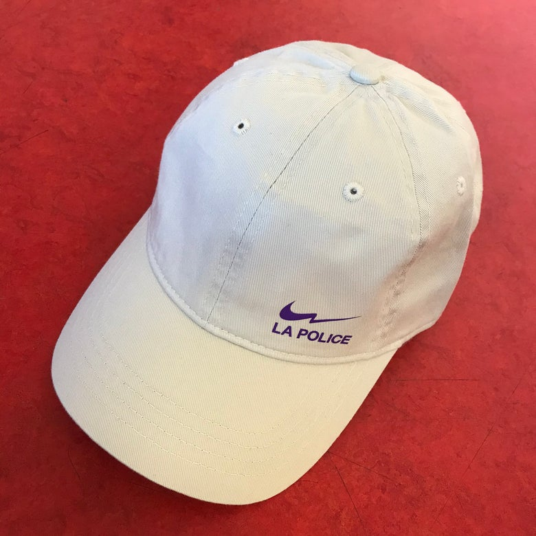 Image of NIQUE LA POLICE CAP / BEIGE PURPLE