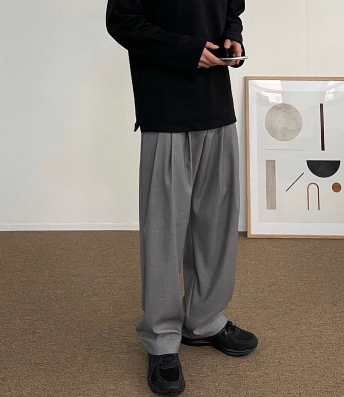 Image of WIDE SUIT TROUSERS (3 COLORS)