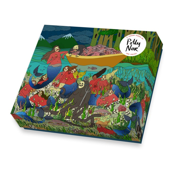 "Image of PRE-ORDER  Polly Nor Jigsaw Puzzle ""Come On In, The Water's Fine!"""