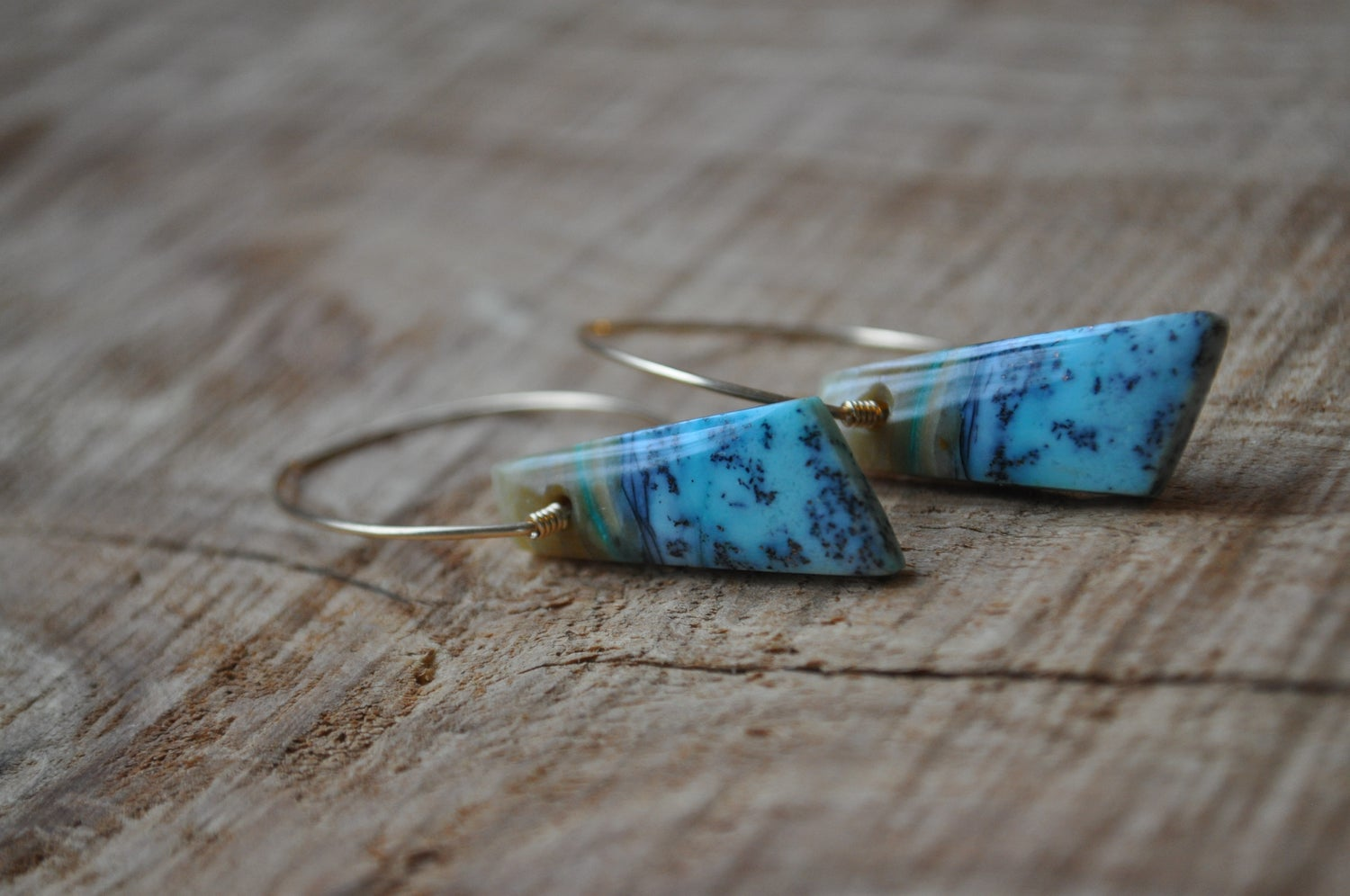Image of One of a Kind Blue Opal Dangles (Item 3B)