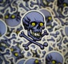 Purple Skull Sticker