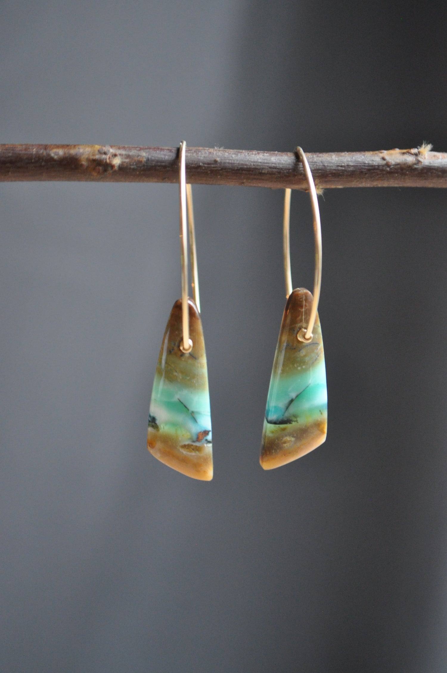 Image of One of a Kind Blue Opal Dangles (Item 2B)