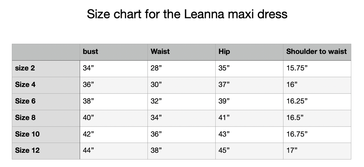 Image of Leanna Maxi - Ink