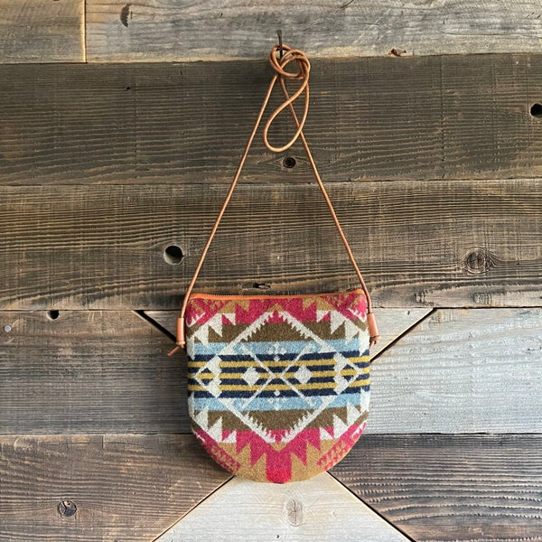 Image of Crossbody Pouch with Pendleton Journey West