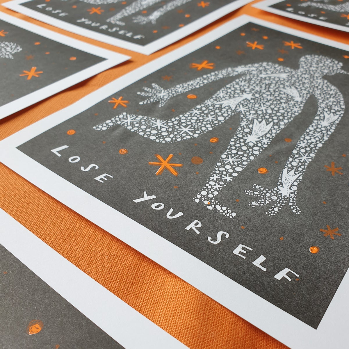 Image of Lose Yourself, Risograph print