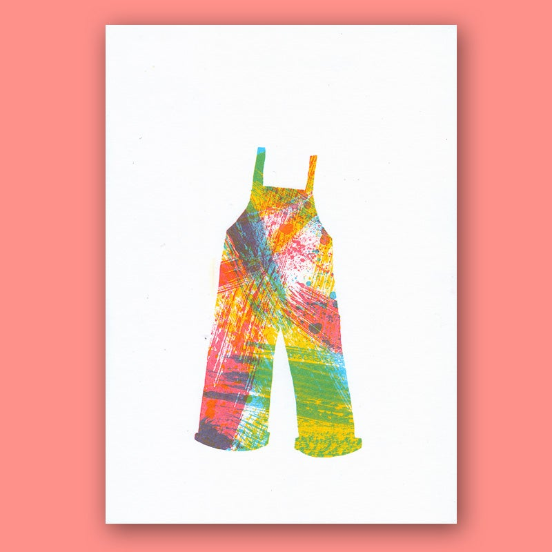 Image of Artist Dungarees, Custom Risograph