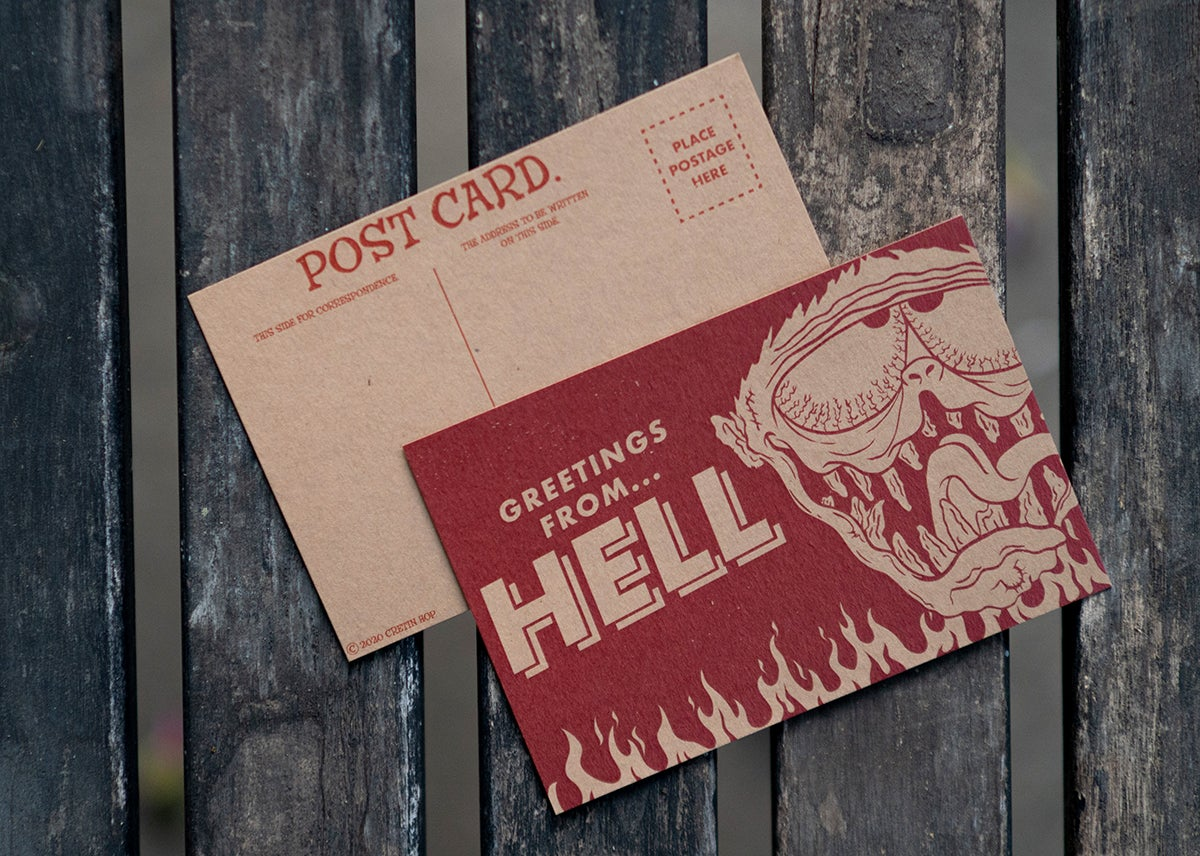 Image of Cretin Postcards 2 Pack