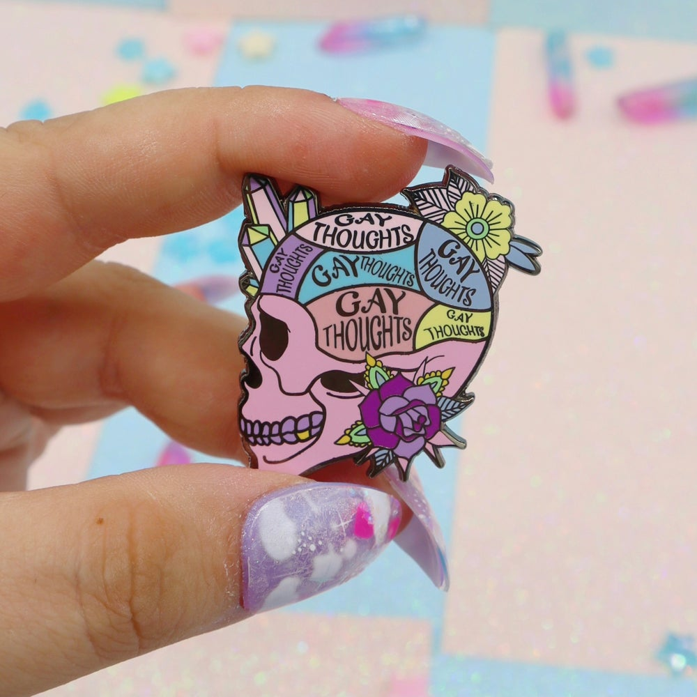 Image of Gay Thoughts Enamel Pin