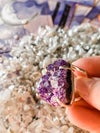 Amethyst cluster ring #2 - silver setting